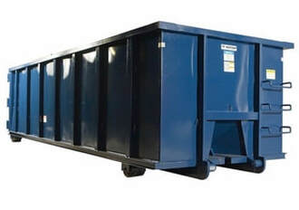 Blue dumpster container
